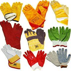 Средства индивидуальной защиты рук: перчатки, краги. кожа, спилок, полимер, х/б
