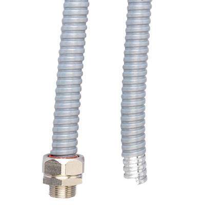 Металлорукав DN 50мм в ПВХ изоляции в оплетке из оцинкованной стали, Dвн 50,5 мм, Dнар 57,0, 25 м