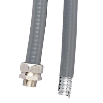 Металлорукав DN 12мм в гладкой EVA изоляции, Dвн 12,0 мм, Dнар 18,0, IP66, 50 м, цвет серый
