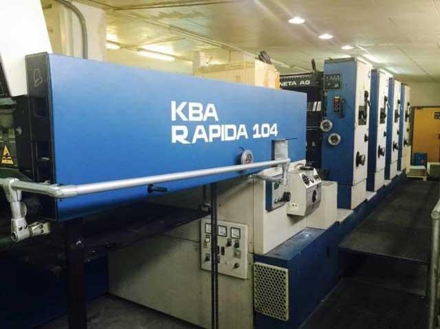 KBA Rapida 104-4P б/у 1998г - четырехкрасочное печатное оборудование