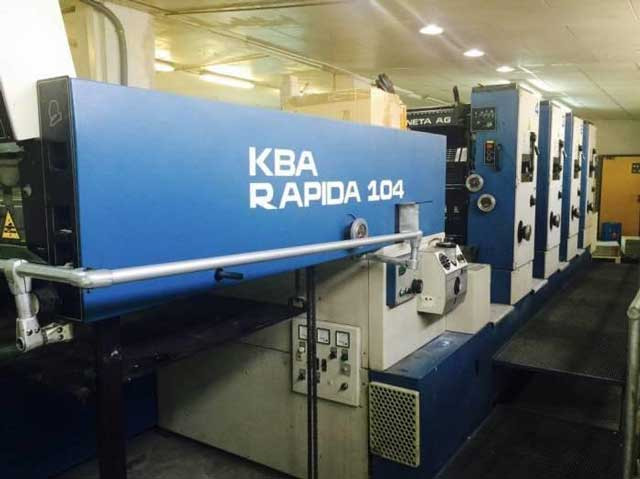 KBA Rapida 104-4 б/у 1991г - четырехкрасочная печатная машина