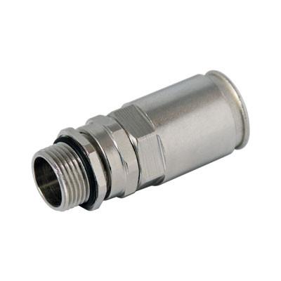 Муфта труба-коробка DN 16 с уплотнением кабеля, IP68, М12х1,5, д.5 - 9мм