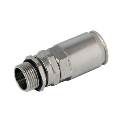 Муфта труба-коробка DN 20 с уплотнением кабеля, IP68, М20х1,5, д.8 - 12мм