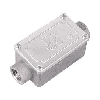 Коробка протяжная алюминиевая, 2 ввода 180°, М16х1,5 ,IP55,118х51х42мм