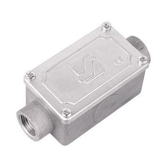 Коробка протяжная алюминиевая, 2 ввода 180°, М20х1,5 ,IP55,118х51х42мм