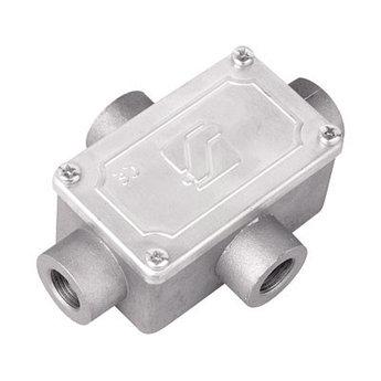 Коробка ответвительная алюминиевая, 4 ввода, М16х1,5 ,IP55,118х83х42мм