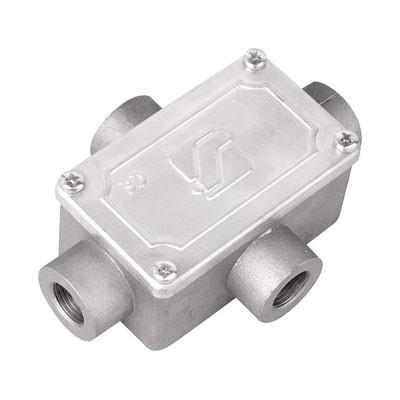 Коробка ответвительная алюминиевая, 4 ввода, М32х1,5 ,IP55,146х81х57мм