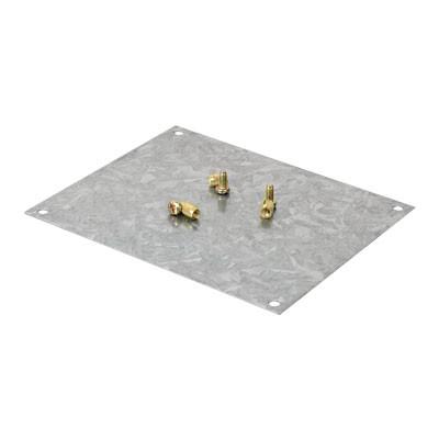 Монтажная пластина из оцинк. стали 122х82 мм, для коробок 128х103 мм