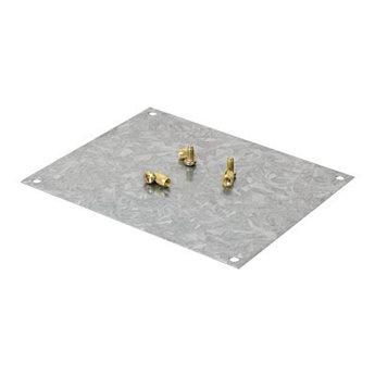 Монтажная пластина из оцинк. стали 133х109 мм, для коробок 154х129 мм