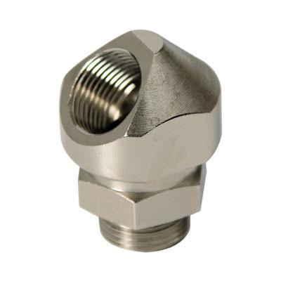Поворотный адаптер 45° M20x1,5, IP68/IP67, никелироованная латунь