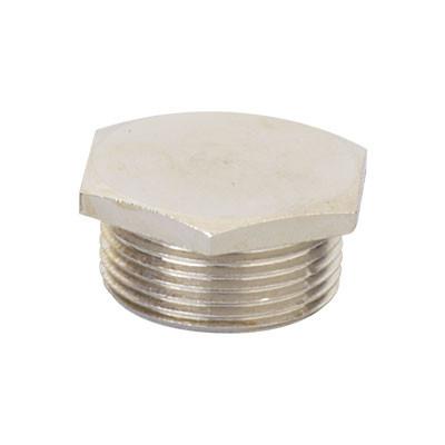 Заглушка M25x1,5, никелированная латунь