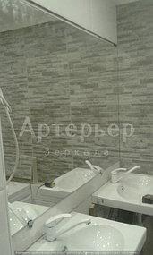 """Зеркало в ванную от компании """"Артерьер"""" (монтаж зеркал в помещениях) 2"""