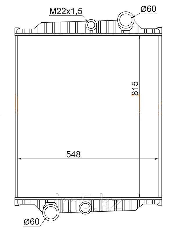 Радиатор  VOLVO FL6 95-