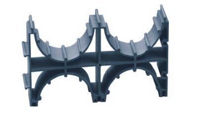 Держатель расстояния (кластер) для двустенных труб, д.140, двойной