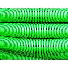 Труба гибкая двустенная дренажная д.110мм, класс SN6, перфорация 360 град., цвет зеленый