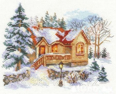 """Набор для вышивания крестиком """"Февральский домик """" 3-22"""