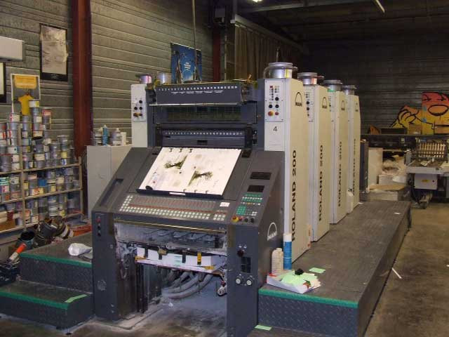 Roland 204 EOB б/у 2007г - 4-красочная печатная машина