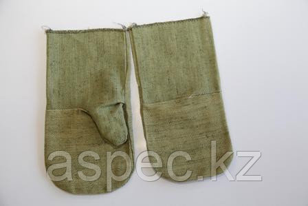 Рукавицы брезентовые с огнеупорной пропиткой, фото 2