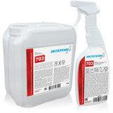 ИНТЕРХИМ 703  Средство регулярной очистки поверхностей в санитарныхИНТЕРХИМ 7 помещениях,  с защитным эффектом