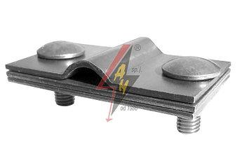 Контрольные (пробные) соединения 2xM8x20, три пластины, B do 40 mm, проволока  Ø 5-12 mm, серия Platinium