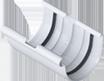 Водосточные системы Альта профиль Муфта желоба (соединитель)