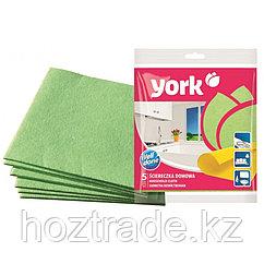 Салфетки для уборки York, набор 5 штук, вискоза, 35 см х 35 см.