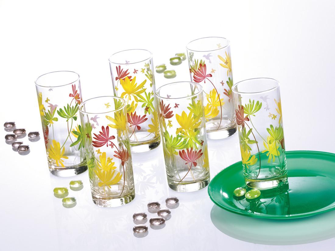 Набор стаканов Luminarc Crazy Flower высокие 270 мл (6 шт.)