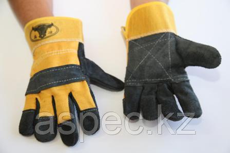 Перчатки спилковые комбинированные, фото 2
