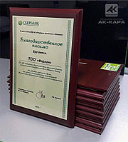 Диплом, благодарственное письмо на металле, Шымкент, фото 1