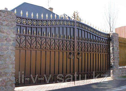 Изготовление любых металлических ворот Алматы
