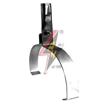 Коньковые держатели H=10 cm, проволока Ø 5-8 mm, шир. 22 cm, выс. 10,5 cm, серия Silver