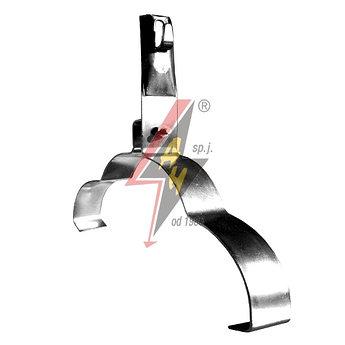 Коньковые держатели H=10 cm, проволока Ø 5-8 mm, серия Silver