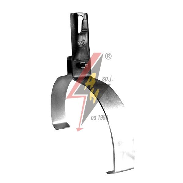 Коньковые держатели H=8 cm, проволока  Ø 5-8 mm, шир. 22 cm, выс. 10,5 cm, медь/латунь