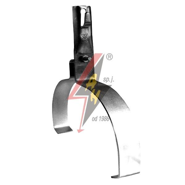 Коньковые держатели H=10 cm, проволока Ø 5-8 mm, шир. 22 cm, выс. 10,5 cm, медь/латунь