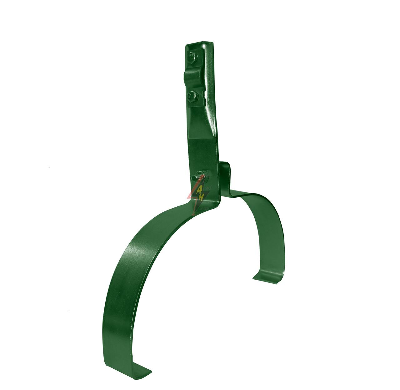 Коньковые держатели H=8 cm, проволока Ø 5-10 mm, шир. 22 cm, выс. 10,5 cm, медь/латунь