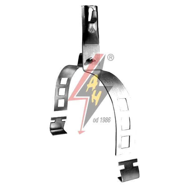 Коньковые держатели H=8 cm, проволока Ø 5-8 mm, шир. 20 cm, выс. 13,5 cm, сталь нерж.