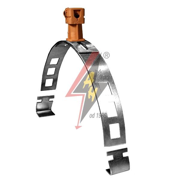 Коньковые держатели H=4 cm, проволока Ø 5-8 mm, алюминий