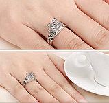 """Кольцо """"Paris"""" серебро, фото 4"""
