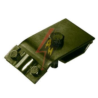 Приводосточный держатель 1xM8x30, проволока Ø 5-10 mm, серия Silver