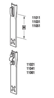 Держатель прямой H=15 cm, проволока Ø 5-8 mm, серия Silver