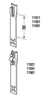 Держатель прямой H=6 cm, проволока Ø 5-8 mm, сталь нерж.