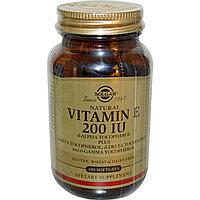 Витамин Е. Vitamin E, смесь токофероллов , 200 МЕ, 100 капсул