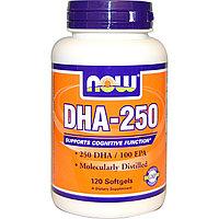 DHA/ДГК  Докозагексагеновая кислота -250, 120 капсул.  Now Foods.
