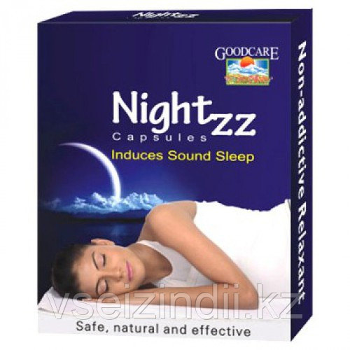 Найт ЗеЗе для улучшения сна, Байдьянахт / Goodcare Nightzz, Baidyanath 10 капсул