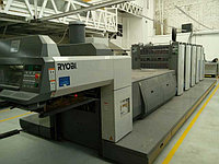 Ryobi 754+L б/у 2006г - 4-х красочная печатная машина