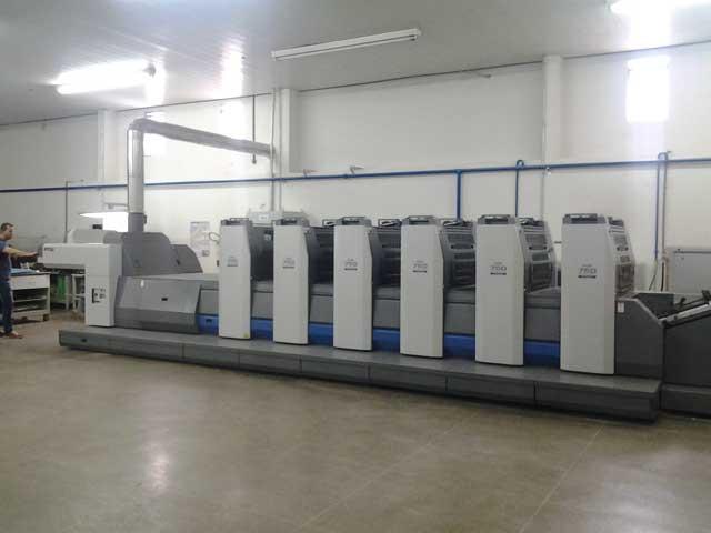 Ryobi 755-5+L б/у 2009г - 5-ти красочная печатная машина