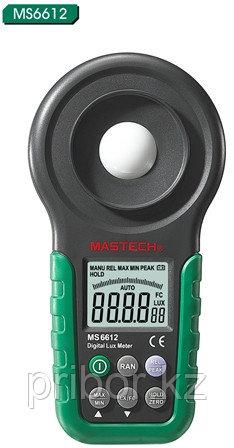 MASTECH MS6612 Цифровой люксметр (200 000 люкс).  Внесен в реестр СИ РК.