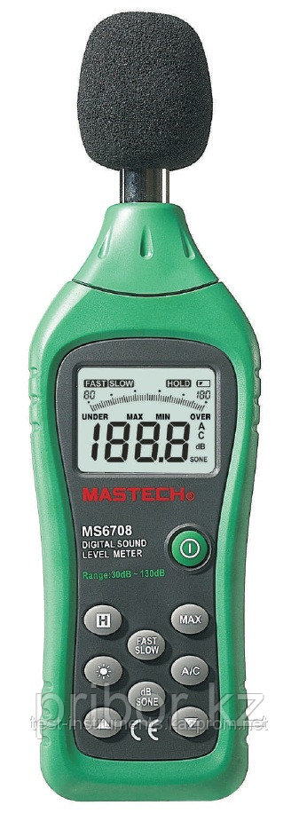MASTECH MS6708 Цифровой шумомер. Внесен в реестр СИ РК