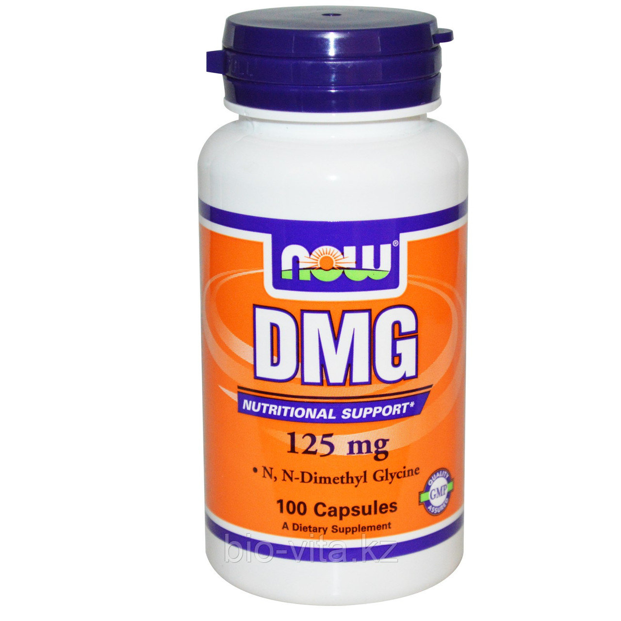 Пангамовая кислота. ДМГ (диметилглицин)DMG, 125 мг, 100 капсул.