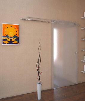 стеклянные раздвижные и распашные двери  11